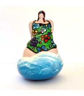 La baigneuse au maillot vert à fleurs
