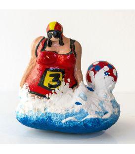 La baigneuse avec le dossard n°3 et le ballon de plage