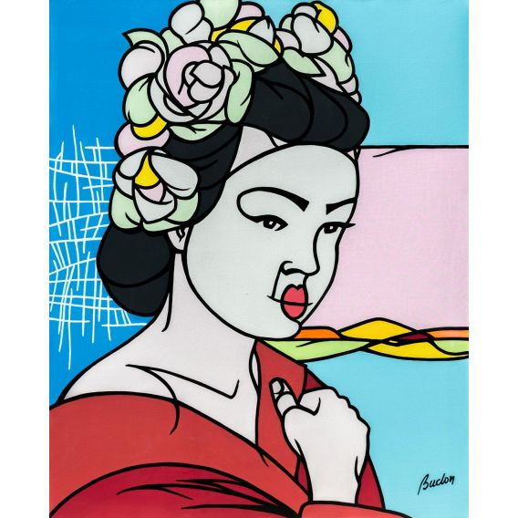 Geisha - Painting by Pascal Buclon