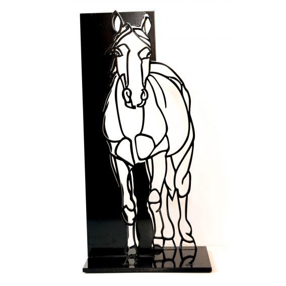 Le cheval - sculpture anamorphique