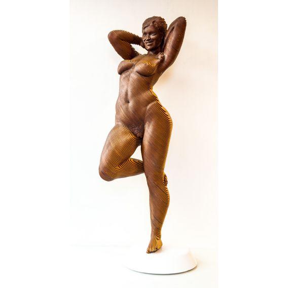 Lucille - wood sculpture - Olivier Duhamel