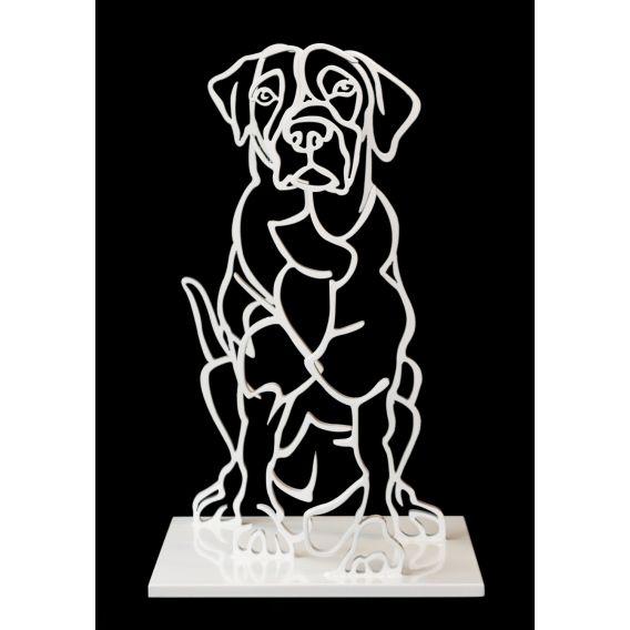Le chien - sculpture anamorphique
