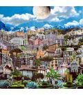 Jardin de ville, jardin de lune - Tableau de David Ameil