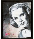 Grace Kelly - Painting by Lilly (framed)