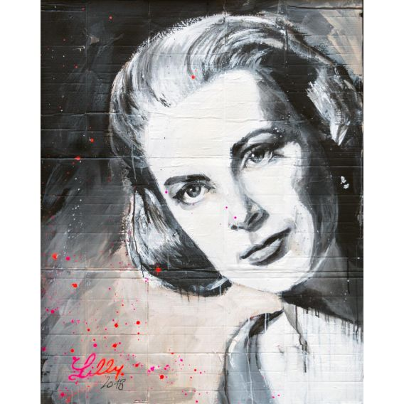 Grace Kelly - Painting by Lilly