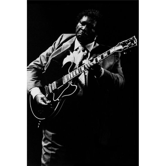 BB King 1/2 Guitarist bluesman Paris 1992