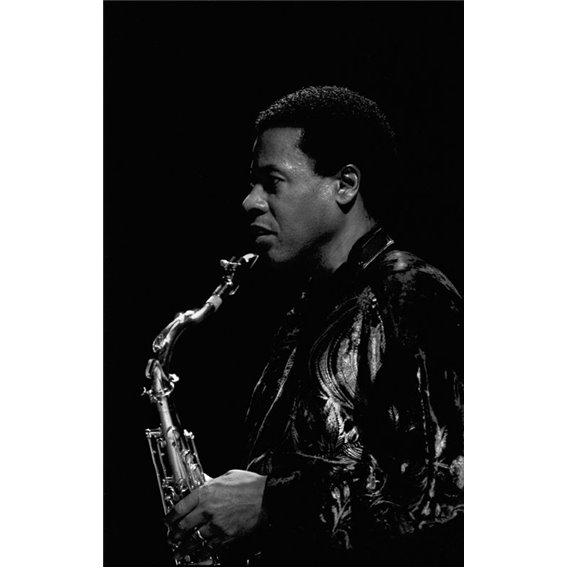 Saxophonist Wayne Schorter 1/2 Paris 1991