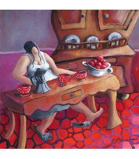 Julie in the kitchen