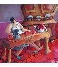 Julie dans sa cuisine