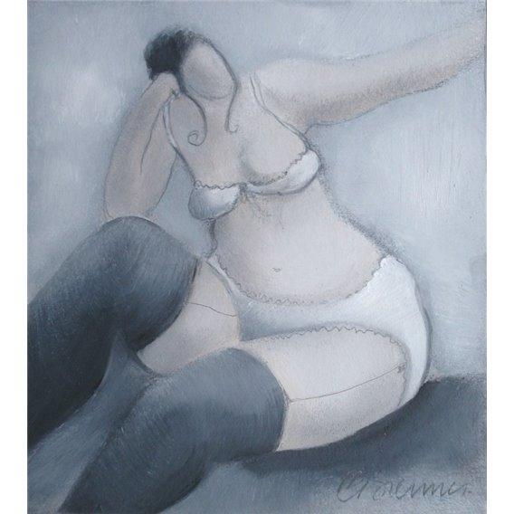 La fille dans la chambre grise