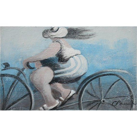 Mireille fait du vélo
