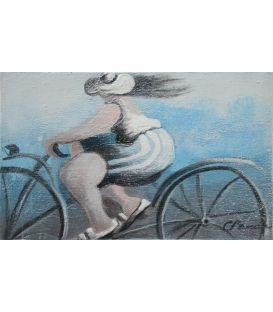 Mireille is biking