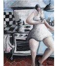 Jeune femme dans sa cuisine