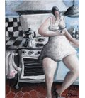 Young woman in her kitchen