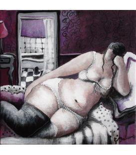 The girl asleep in her bedroom