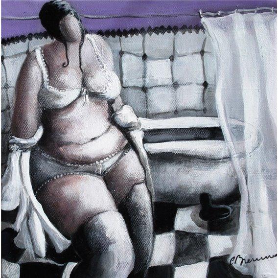 La fille qui se déshabille
