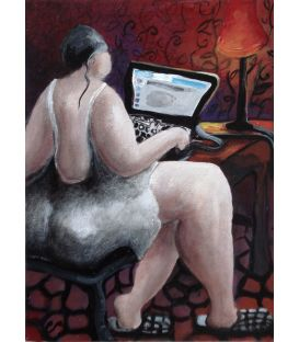 The girl with the computer
