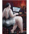 La fille au computer