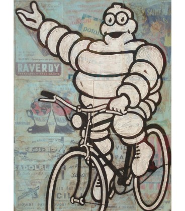 Michelin Man on bike