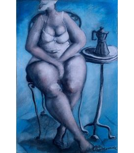 The woman with the coffee pot