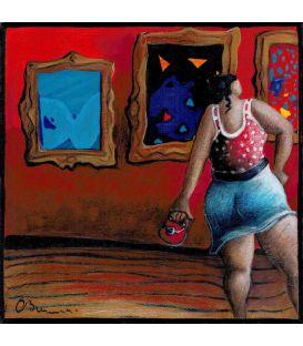 Julie à la galerie