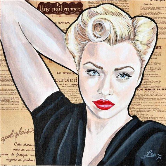 La pin-up blonde