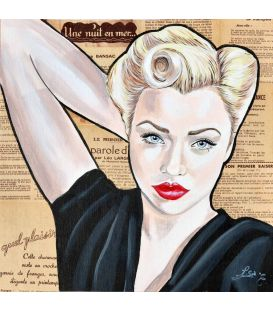 La pin-up blonde