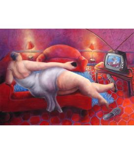 La jeune femme à la télécommande - Sexy housewife