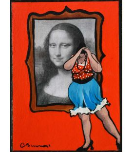 Julie adjusts her camera to make a selfie with Mona ...