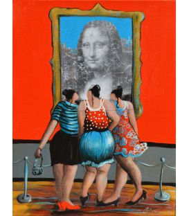 Julie and her friends could not imagine the Mona Lisa like that!