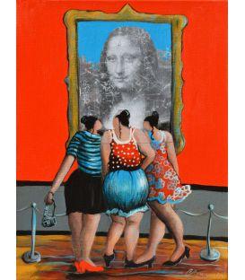 Julie et ses amies n'imaginaient pas du tout la Joconde comme ça!