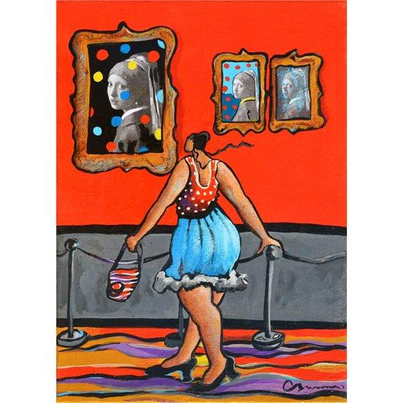 Julie au musée d'art moderne trouve qu'avec ces pois on ne voit plus trop la perle de la jeune fille à la perle...