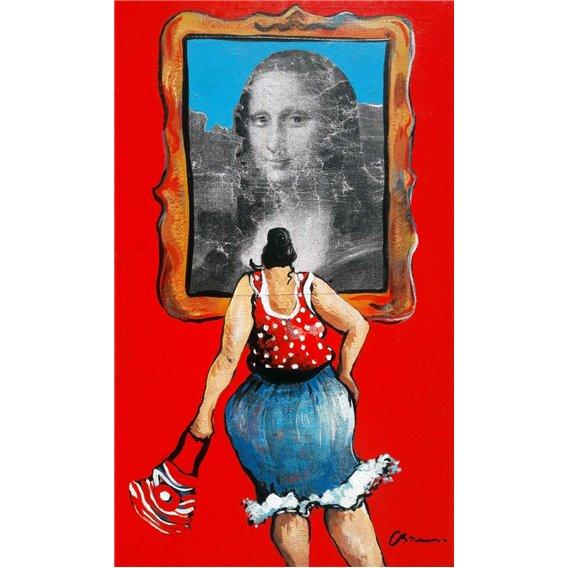 Loin des chemins de l'art facile, Julie se dit que la Joconde est unique!