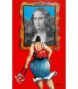 Far from the paths of easy art, Julie said that the Mona Lisa is unique!