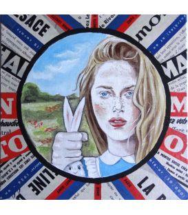 La jolie blonde aux yeux bleus