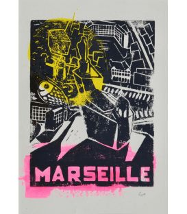 Marseille - allegory in yellow and pink