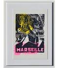 Marseille - allégorie en jaune et rose (encadré)