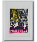 Marseille - allegory in yellow and pink (framed)