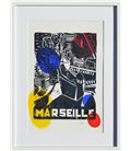 Marseille - Allegory in yellow, red and blue (framed)