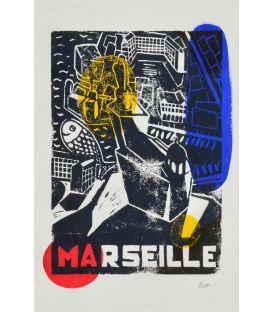 Marseille - Allégorie en jaune rouge et bleu n°2