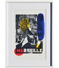 Marseille - Allegory in yellow, red and blue n°2 (framed)