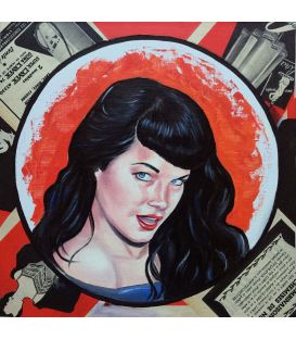 Betty Page - Small artwork by Elisabete Cargnello