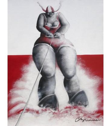 Ski nautique sur la mer rouge