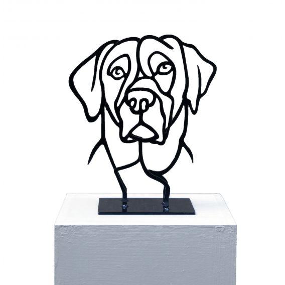 Le petit chien - Sculpture anamorphique de Pascal Buclon