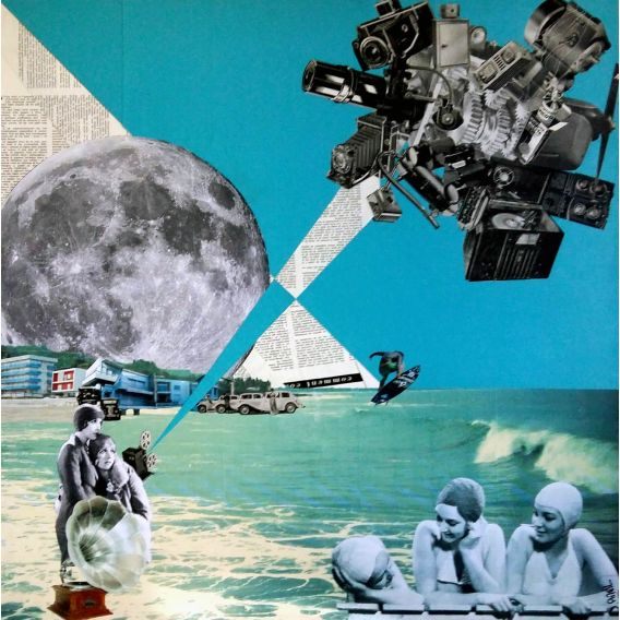 The day after - Collages on canvas by David Ameil