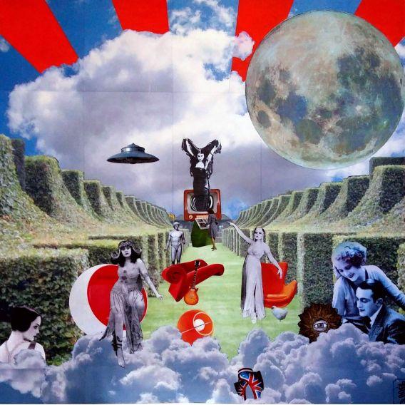 Télé psychique - Collages sur toile de David Ameil