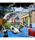 Dream of a summer day - Collages on canvas by David Ameil