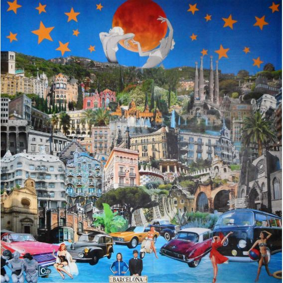 Barcelone - Collages sur toile de David Ameil
