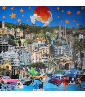 Barcelona - Collages on canvas by David Ameil