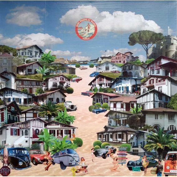 De Hossegor à Biarritz - Collages sur toile de David Ameil